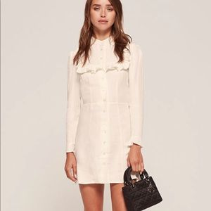 Reformation Mia dress ruffle